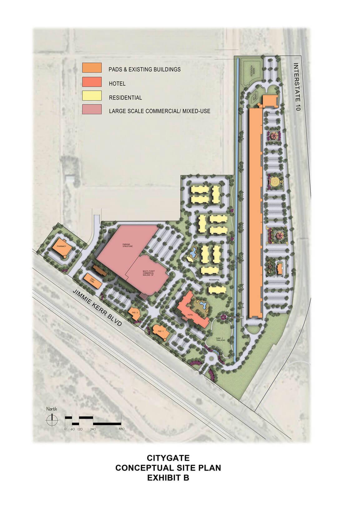 CityGate PAD (Exhibit B Conceptual Site Plan)