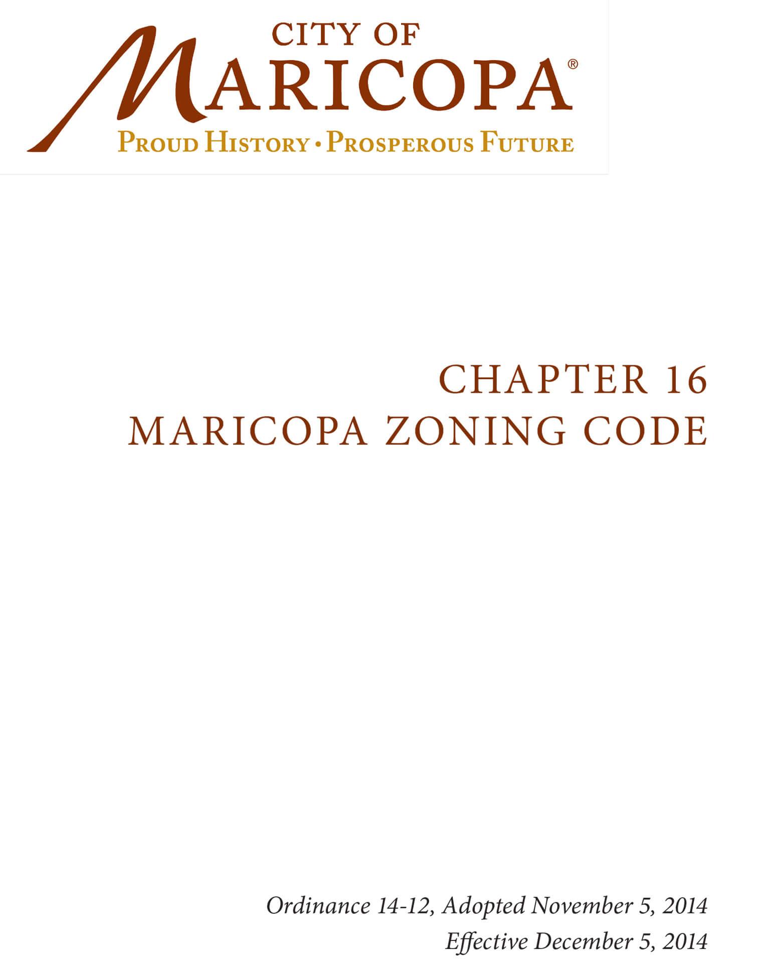 Maricopa Zoning Code